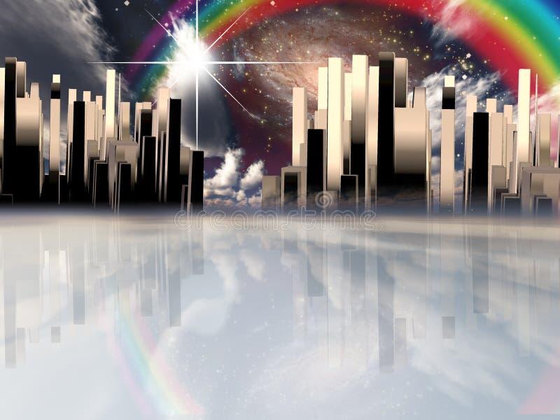 Cidade celestial ilustração stock
