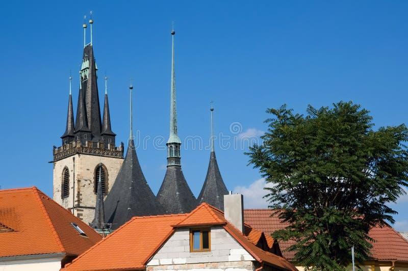 Cidade center histórica Louny foto de stock