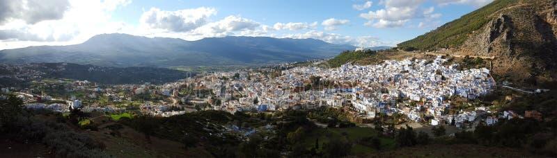 Cidade Chefchaouen em Marrocos imagens de stock