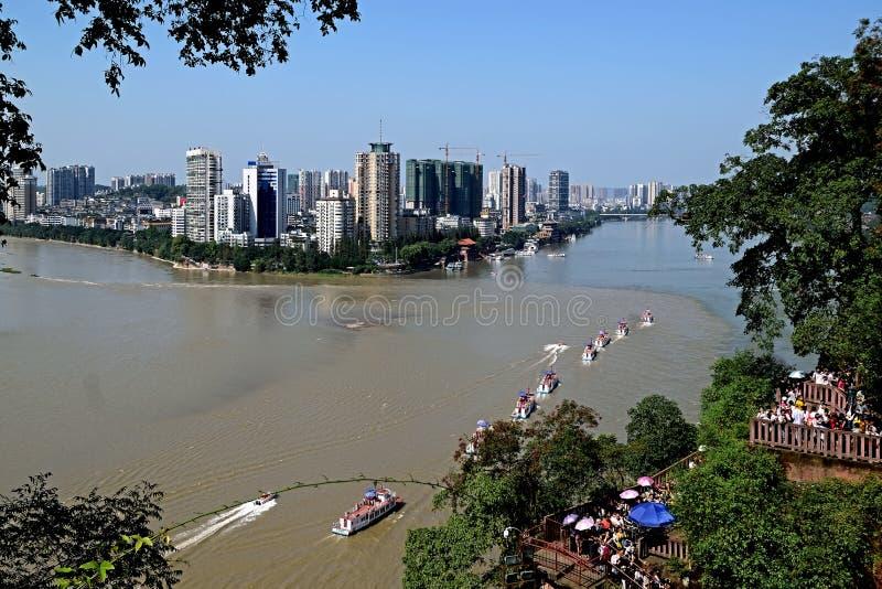 Cidade China-bonita de Leshan Leshan fotos de stock
