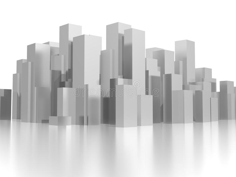Cidade cinzenta média ilustração royalty free