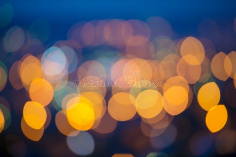 A cidade circular ilumina o bokeh fotografia de stock