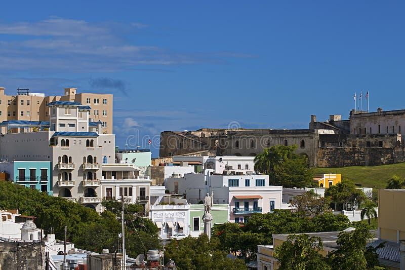 Cidade colonial de San Juan imagens de stock