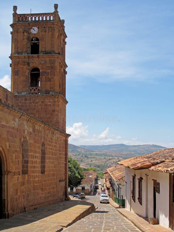Cidade colonial velha de Barichara, Santander, Colômbia imagens de stock