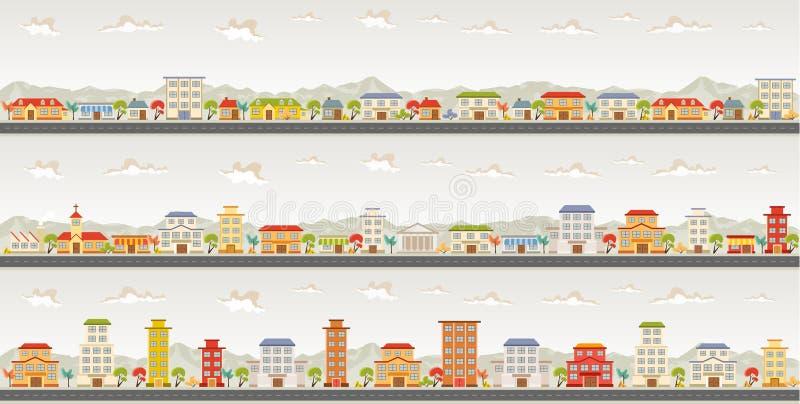 Cidade colorida ilustração stock