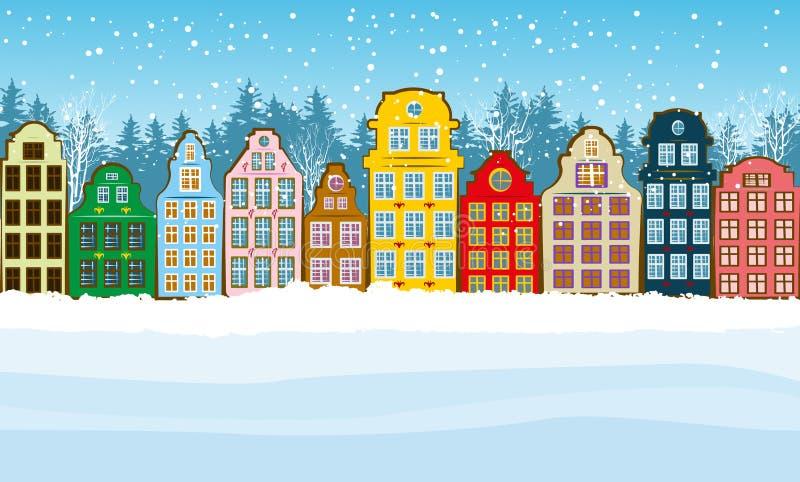Cidade colorido do Natal