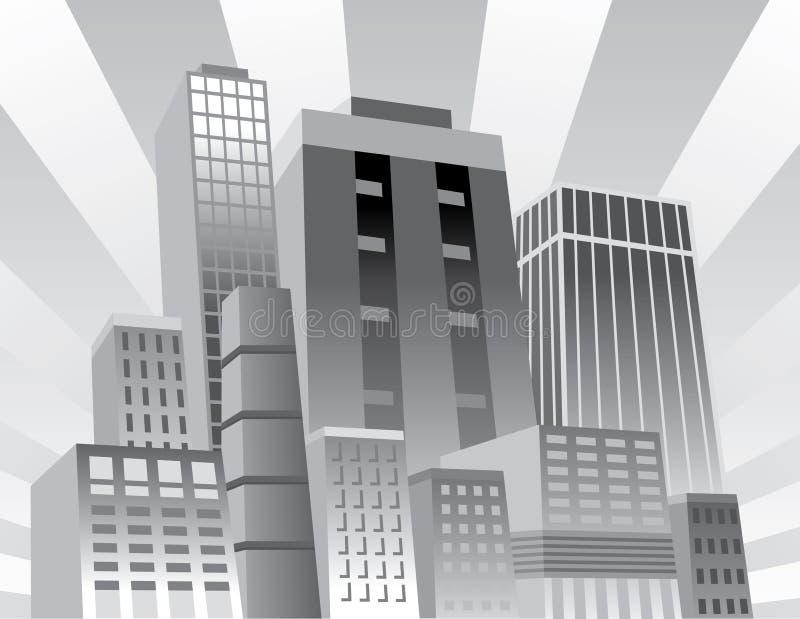 Cidade confiável ilustração stock