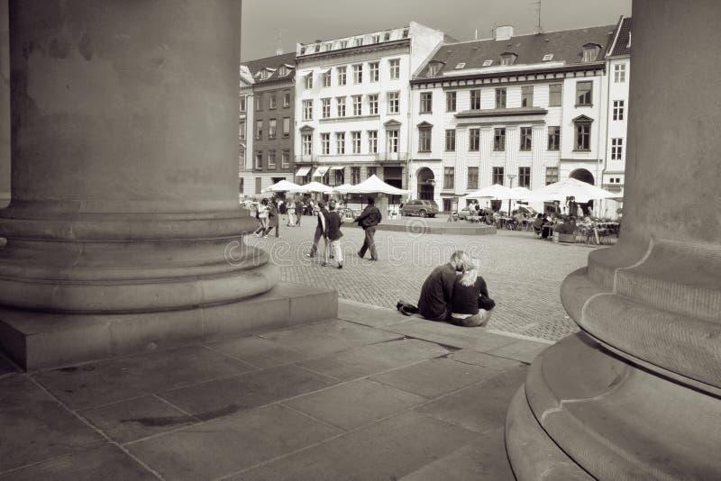 Cidade Copenhaga dos amantes fotografia de stock royalty free
