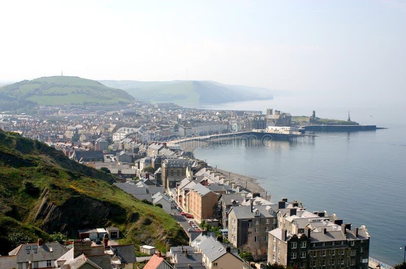 Cidade costeira de Aberystwyth foto de stock
