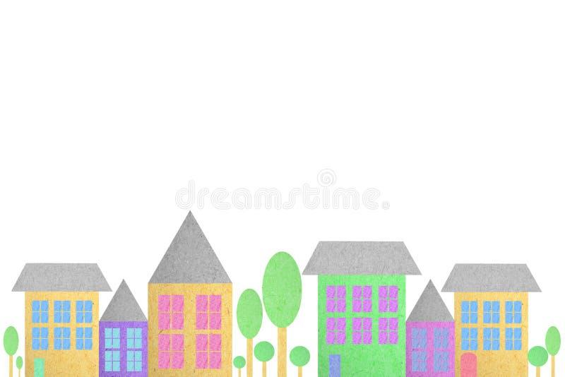 Cidade criada do papel ilustração royalty free