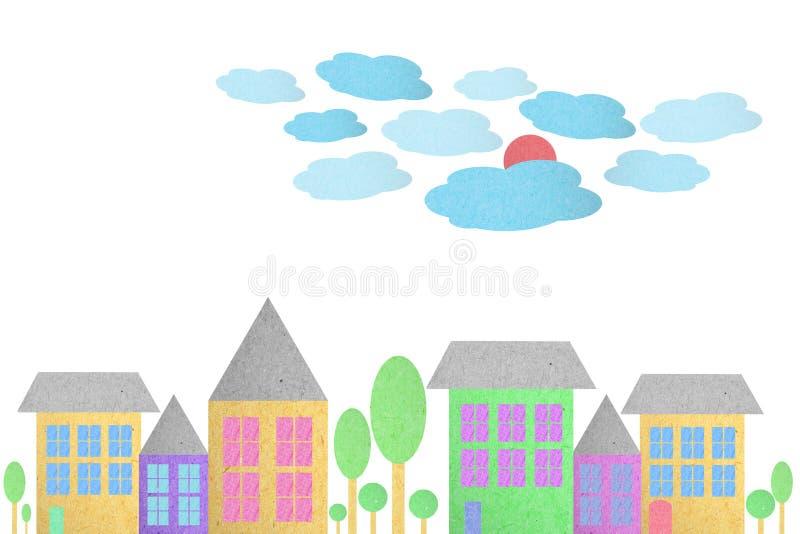 Cidade criada do papel ilustração stock