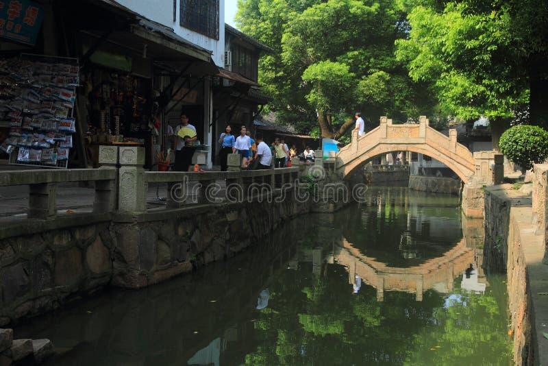 Cidade da água de Luzhi, suzhou China fotografia de stock