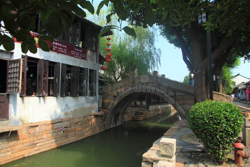 Cidade da água de Luzhi, suzhou China fotografia de stock royalty free