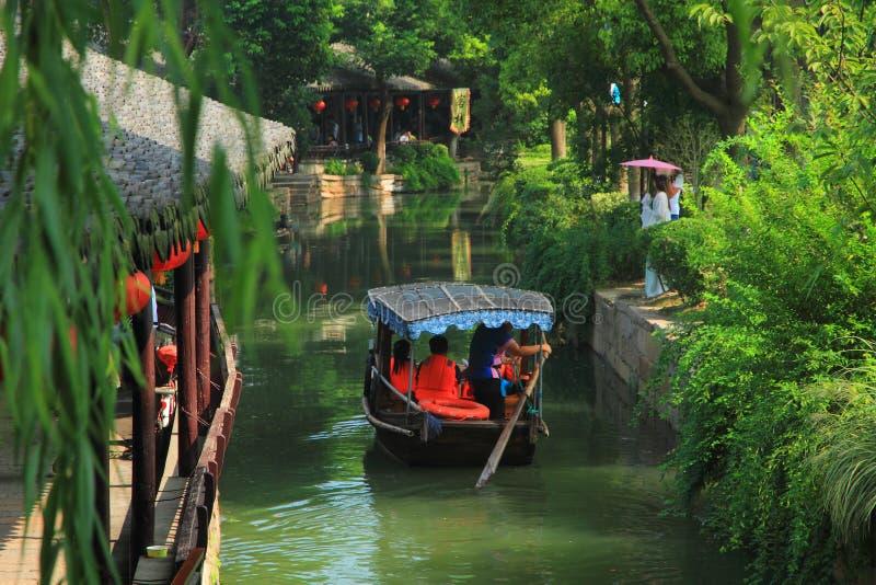 Cidade da água de Luzhi, suzhou China fotos de stock royalty free