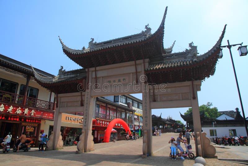 Cidade da água de Luzhi, suzhou China imagem de stock royalty free