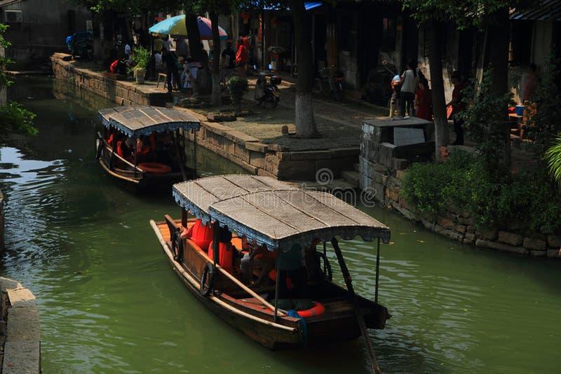 Cidade da água de Luzhi, suzhou China imagens de stock