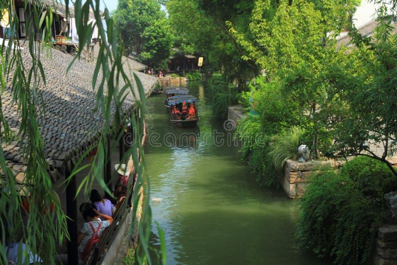 Cidade da água de Luzhi, suzhou China foto de stock