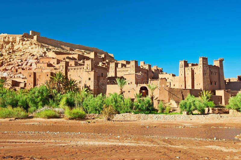 A cidade da argila no norte de África fotografia de stock royalty free