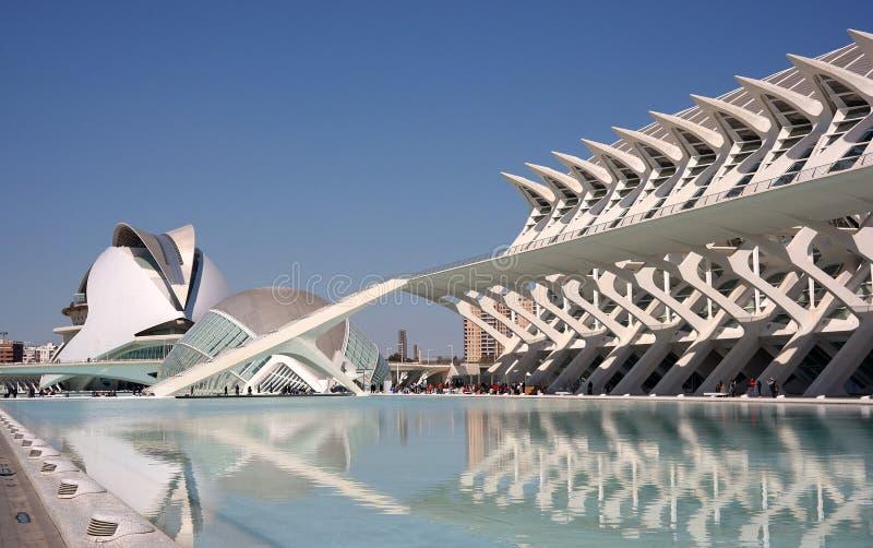 Cidade da arte e das ciências imagens de stock royalty free