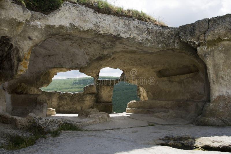 Cidade da caverna de Eski-Kermen imagem de stock