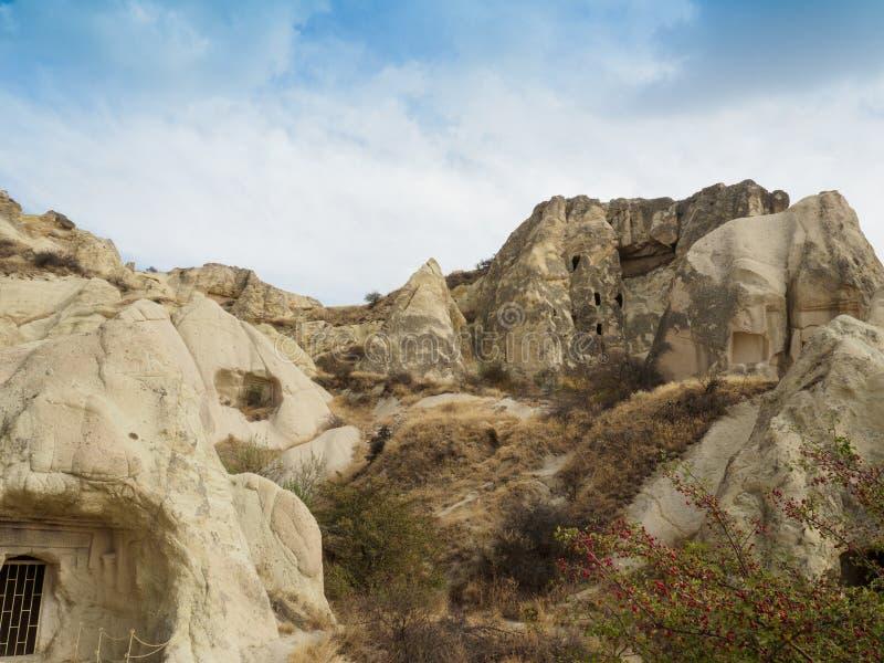 A cidade da caverna de Goreme, Cappadocia, prov?ncia de Nevsehir, Anatolia Region central de Turquia imagem de stock royalty free