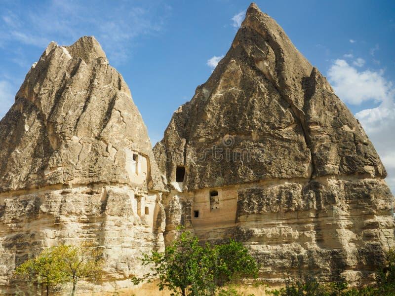 A cidade da caverna de Goreme e dos locais de Cappadocia, prov?ncia da rocha de Nevsehir, Anatolia Region central de Turquia fotografia de stock royalty free