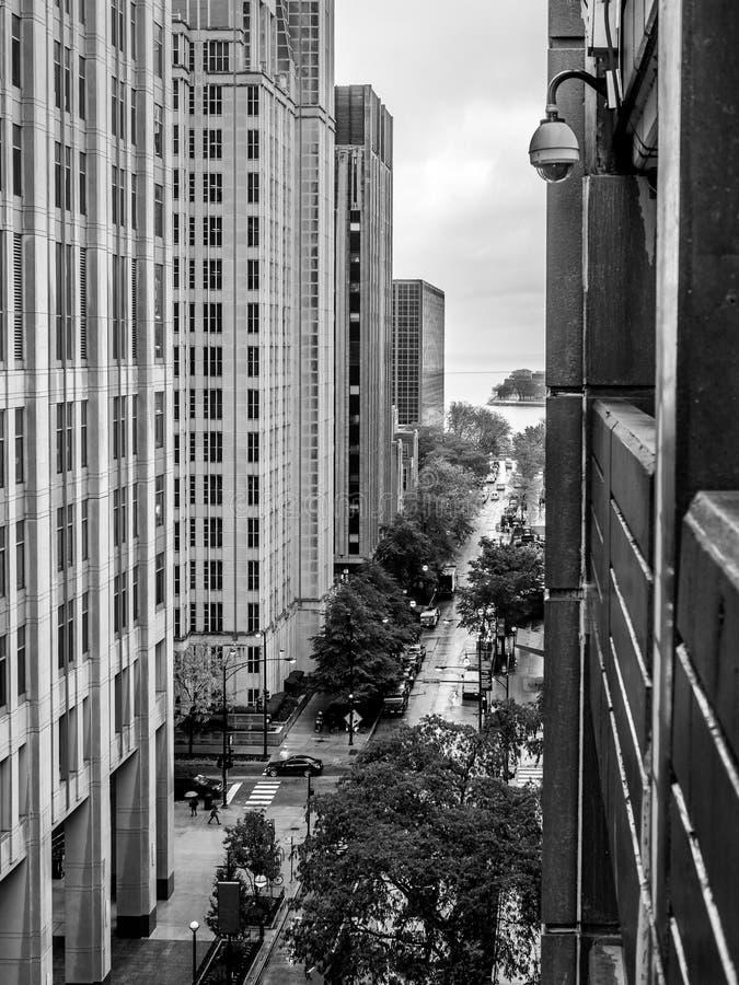 Cidade da chuva fotografia de stock