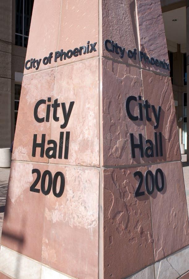 Cidade da cidade salão de Phoenix foto de stock