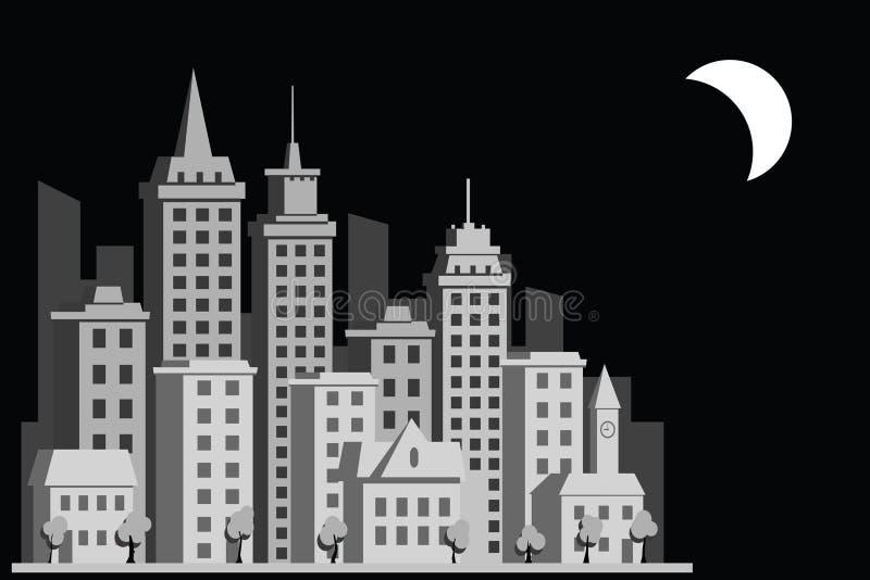 Cidade da construção dos desenhos animados ilustração royalty free