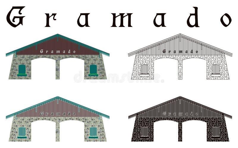 Cidade da entrada de Gramado ilustração royalty free