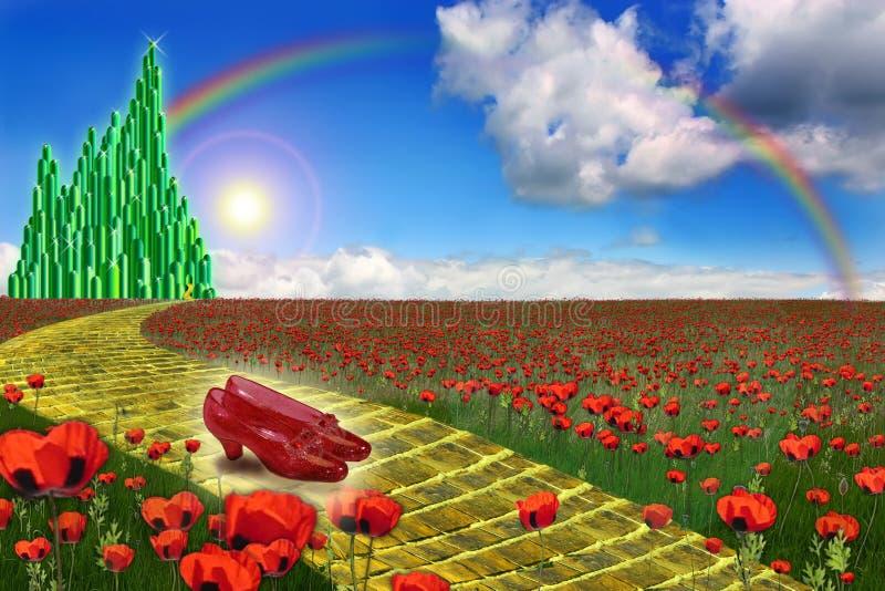 Cidade da esmeralda na terra da onça ilustração do vetor