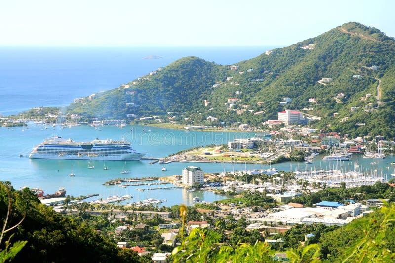 Cidade da estrada, Tortola imagens de stock royalty free