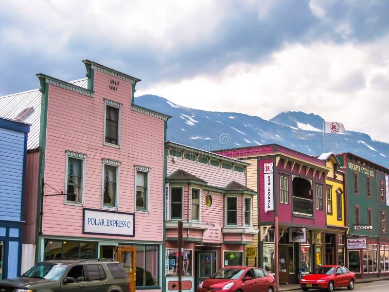 Cidade da febre do ouro, Skagway, Alaska foto de stock