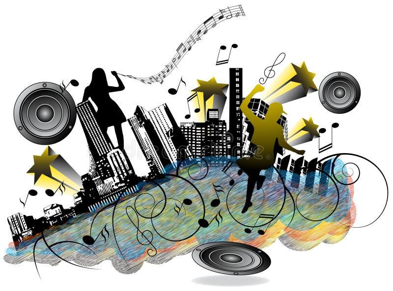 Cidade da música ilustração stock