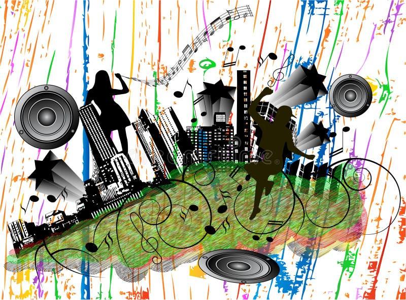 Cidade da música ilustração royalty free