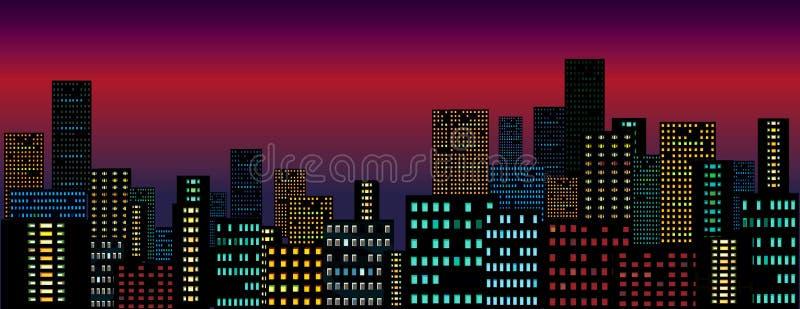 Cidade da noite. ilustração stock