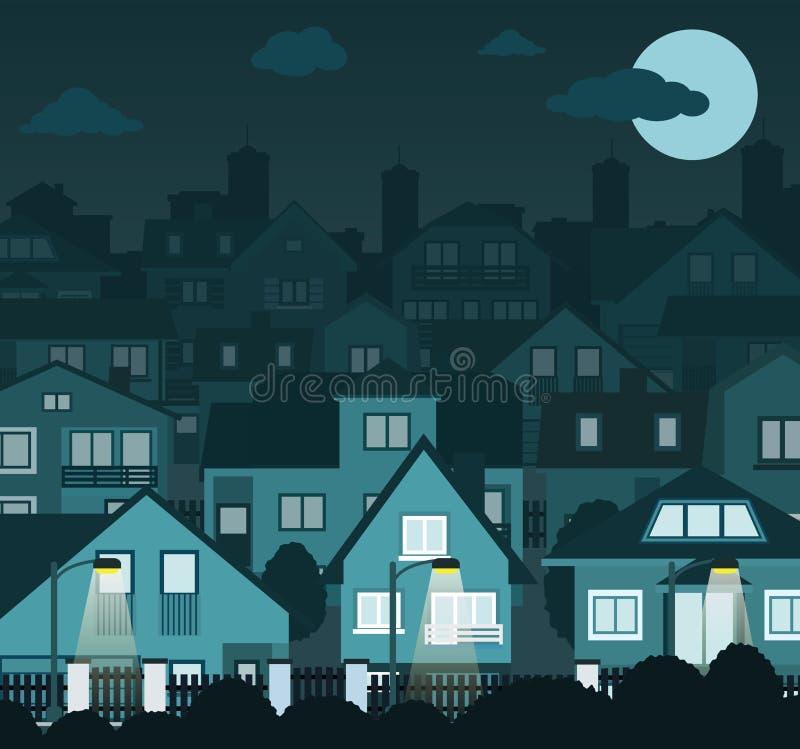 Cidade da noite ilustração royalty free
