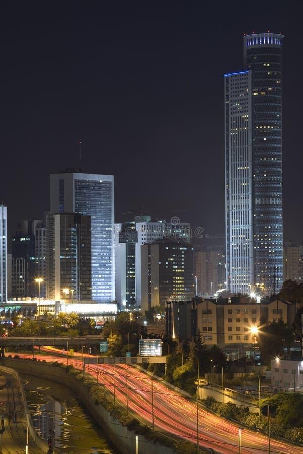 A cidade da noite foto de stock royalty free