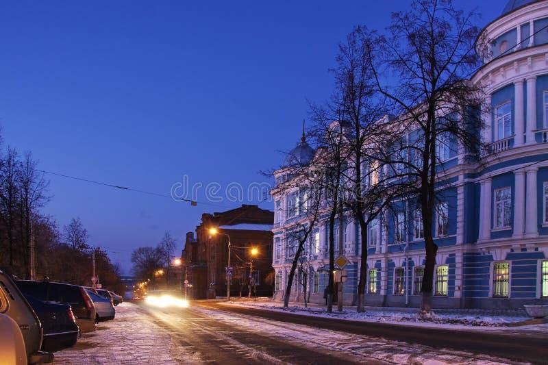 Cidade da noite do Perm imagem de stock