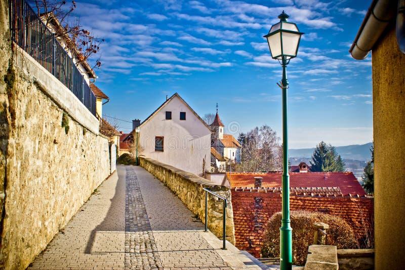 Cidade da passagem do toplice de Varazdinske fotos de stock