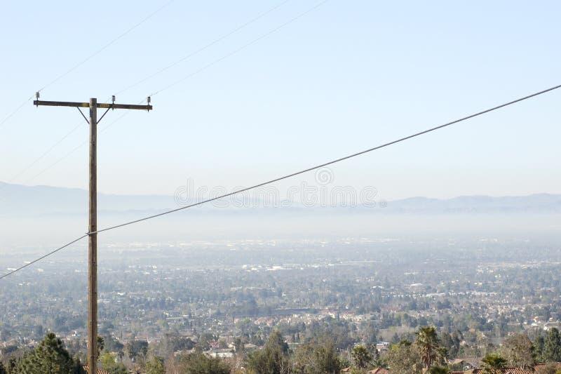 Cidade da poluição atmosférica fotografia de stock