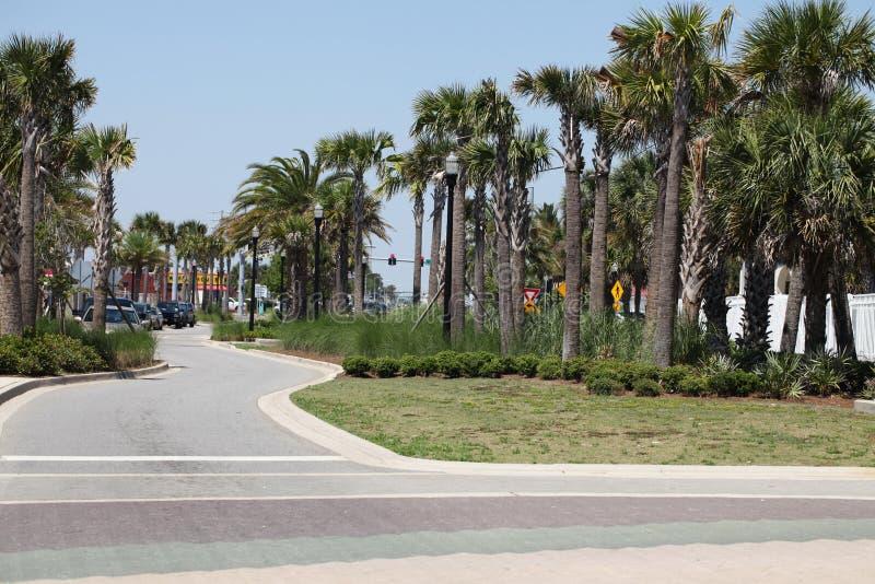 Cidade da praia de jacksonville em florida imagem de stock