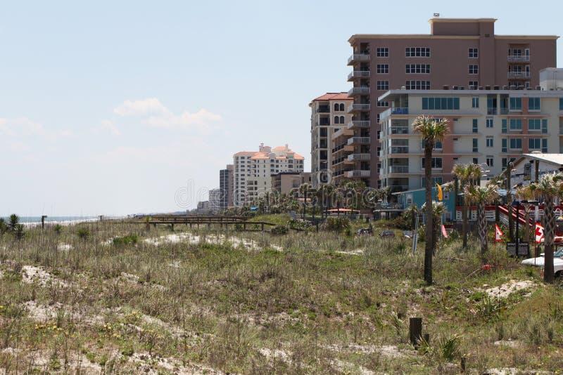 Cidade da praia de jacksonville em florida fotos de stock