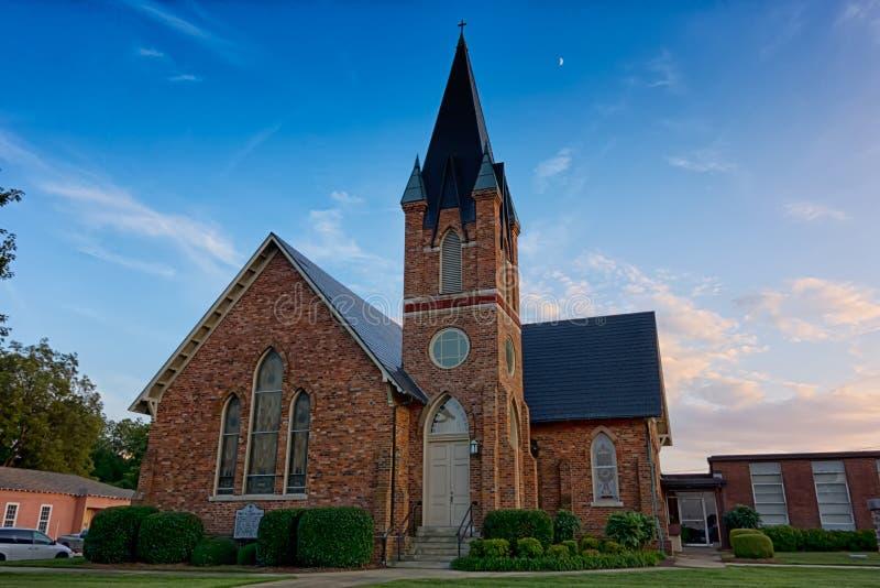 Cidade da rosa do branco de York South Carolina foto de stock