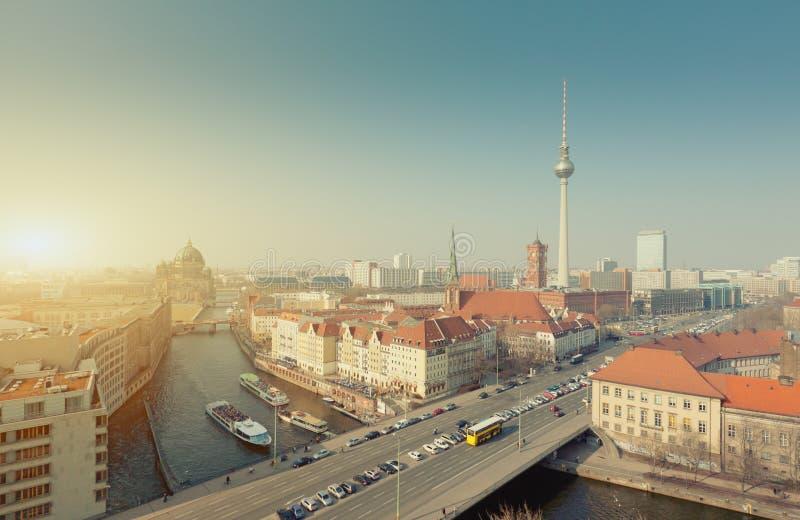 Cidade da skyline de Berlim, capital de Alemanha foto de stock royalty free