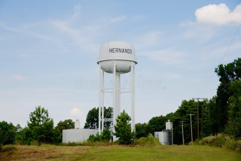 Cidade da torre de água de Hernando, Hernando, Mississippi fotografia de stock royalty free
