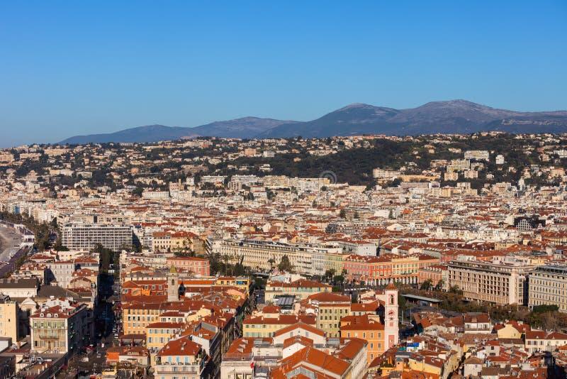 Cidade da vista aérea agradável em França imagem de stock