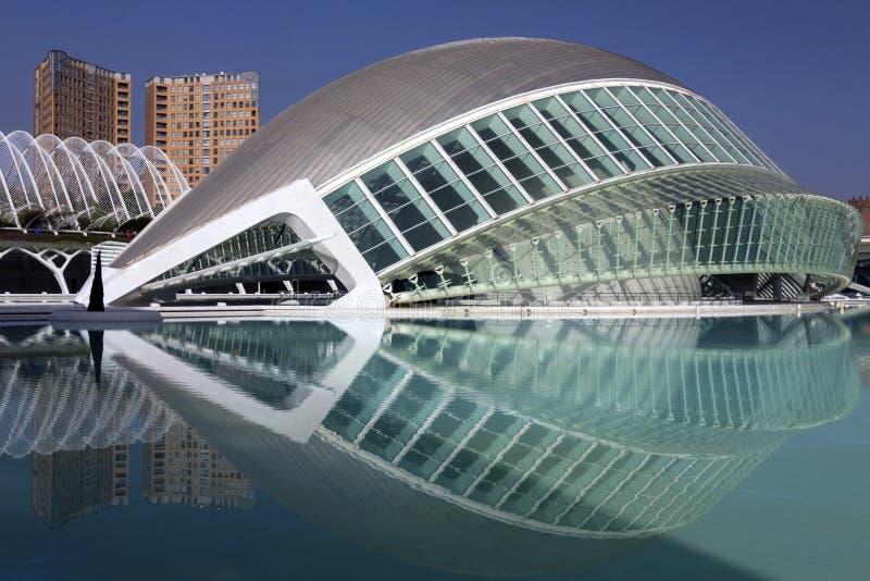 Cidade das artes & das ciências foto de stock royalty free