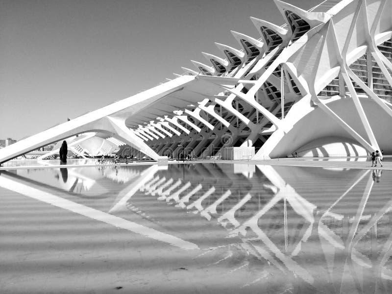 Cidade das artes e a ciência & o x28; València& x29; imagens de stock