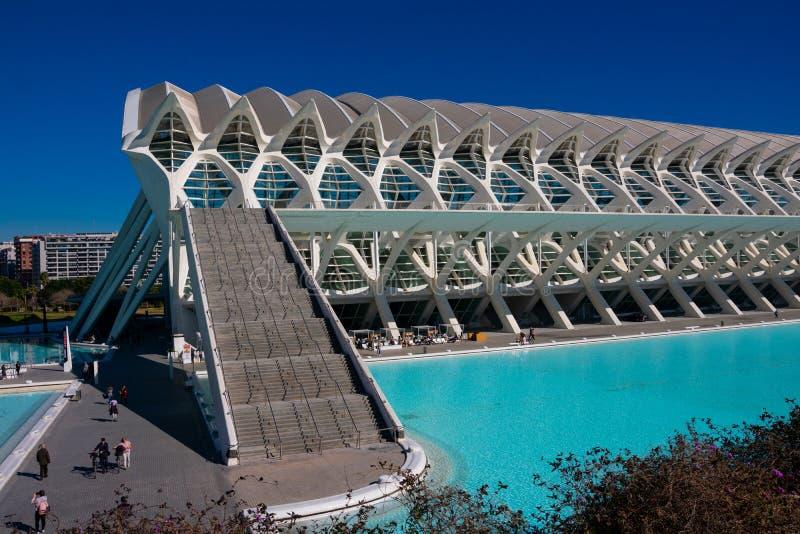 Cidade das artes e das ciências Arquitetos Santiago Calatrava e Felix Candela imagens de stock